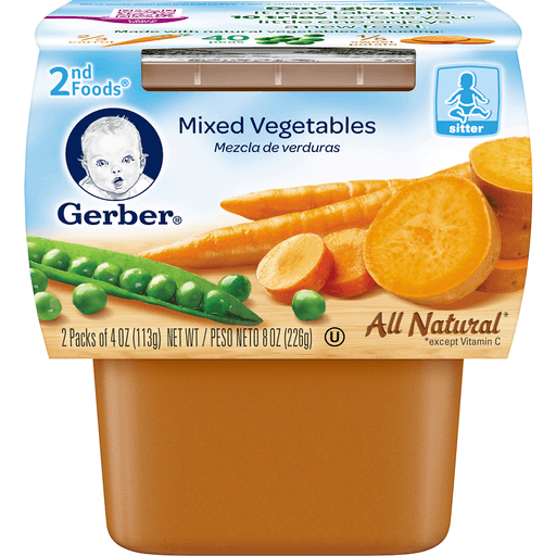 Gerber Carrot Sweet Potato Pea 2nd Foods - 2 PK