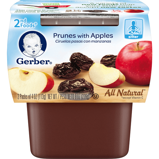 Gerber 2nd Foods All Natural Prunes with Apples - 2 CT