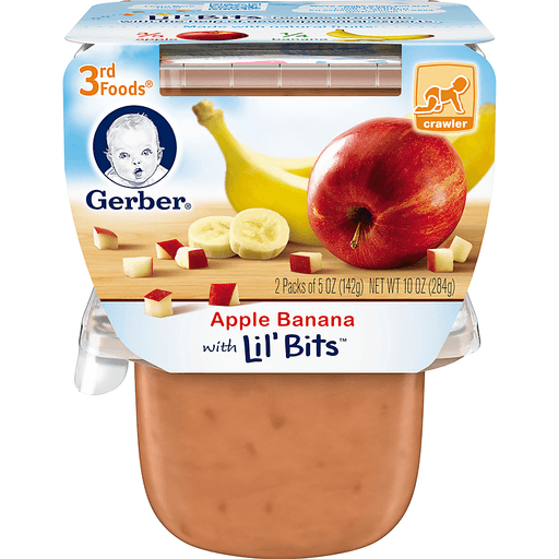 Gerber Apple Banana with Lil' Bits 3rd Foods