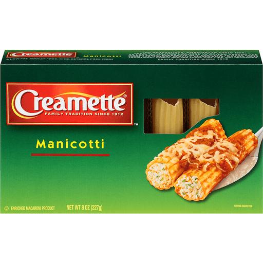 Creamette® Manicotti Pasta 8 oz. Box