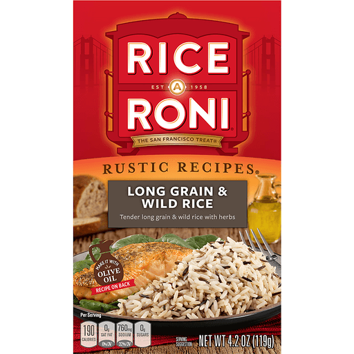 Rice A Roni Rustic Recipes Rice, Long Grain & Wild