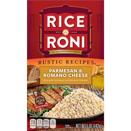 Rice-A-Roni Rustic Recipes Parmesan & Romano Cheese