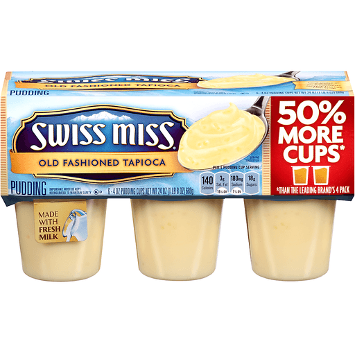 Swiss Miss Pudding Old Fashioned Tapioca - 6 CT