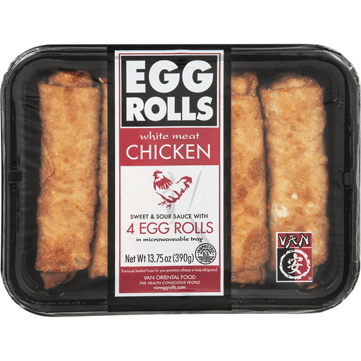 Van's™ Kitchen All White Meat Chicken Egg Rolls with Sweet & Sour Sauce 4 ct Tray