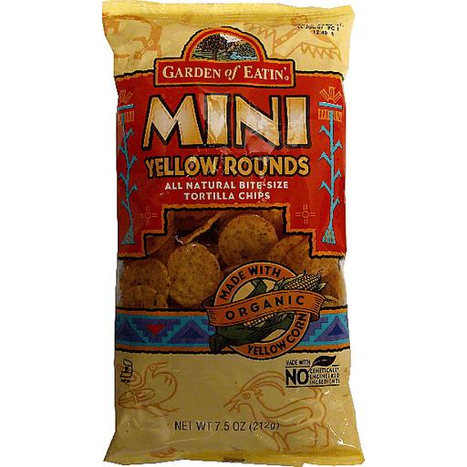 Garden of Eatin Tortilla Chips, Corn, Mini Yellow Rounds