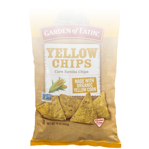 Garden of Eatin Tortilla Chips, Corn, Yellow Chips