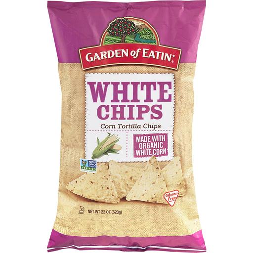 Garden of Eatin Tortilla Chips, Corn, White Chips