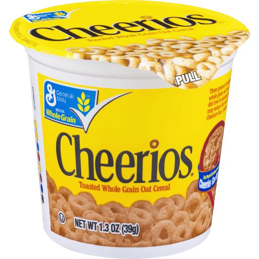 Cheerios Cereal Cup, Gluten Free Cereal, 1.3 oz