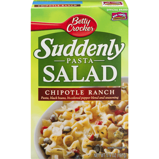 Betty Crocker Suddenly Salad, Chipotle Ranch Pasta Salad Dry Meals, 5.9 Oz Box