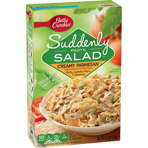Betty Crocker Suddenly Salad, Creamy Parmesan Pasta Salad Dry Meals, 6.2 Oz Box