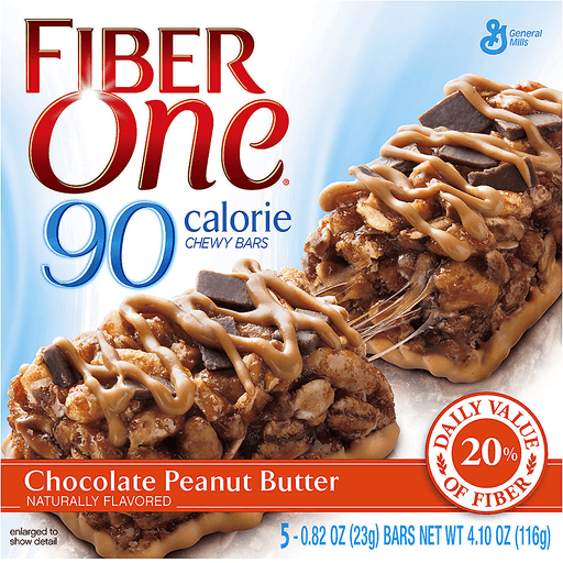 Fiber One 90 Calorie Chewy Bars, Chocolate Peanut Butter