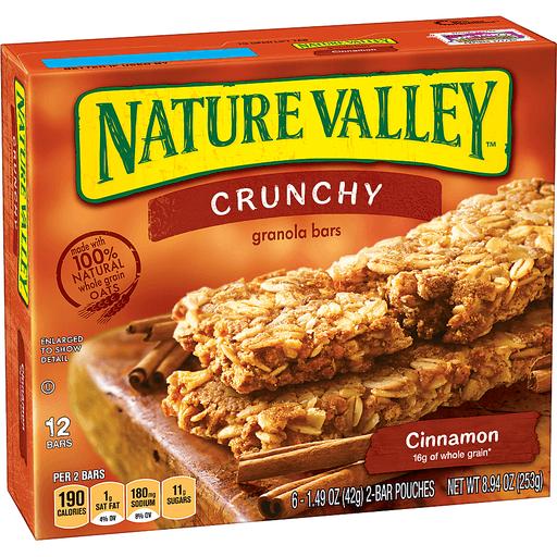 Nature Valley™ Crunchy Granola Bar Cinnamon 12 Bars In 6 - 1.49 oz 2-Bar Pouches