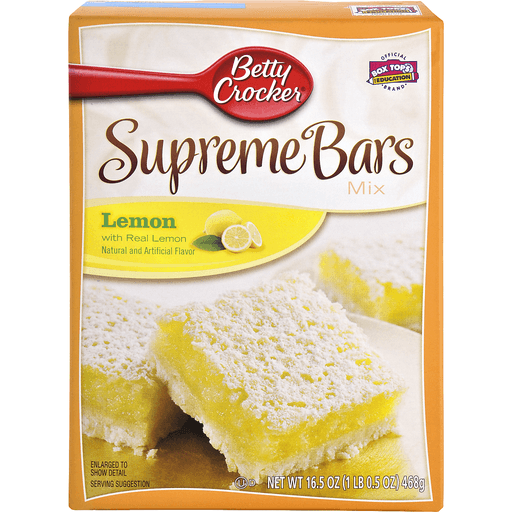 Betty Crocker Delights Bars Mix, Supreme Lemon