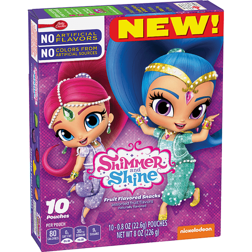 Shimmer and Shine Fruit Flavored Snacks - 10 CT
