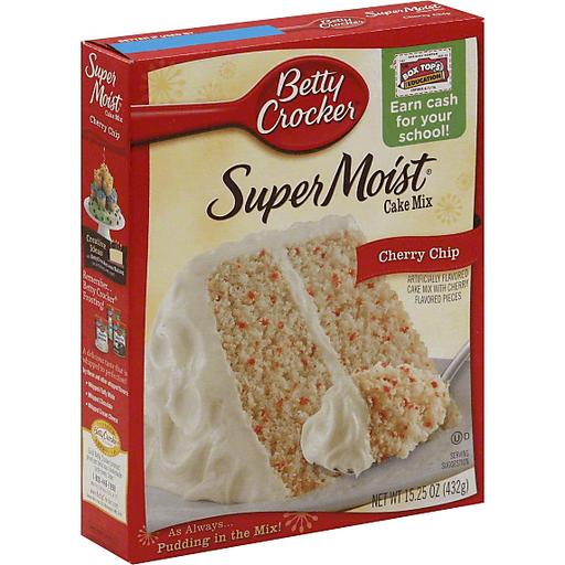 Betty Crocker® Super Moist Cake Mix Cherry Chip 15.25 oz Box