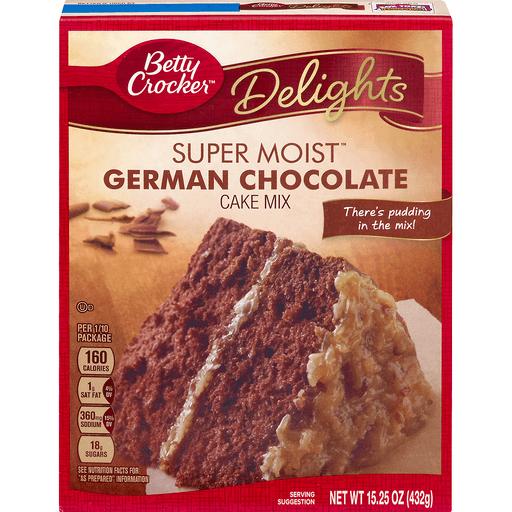 Betty Crocker Delights Cake Mix, Super Moist, German Chocolate