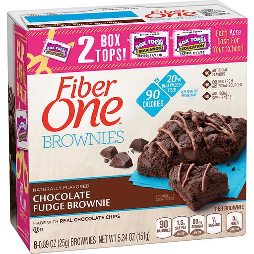 Fiber One 90 Calorie Brownies, Chocolate Fudge