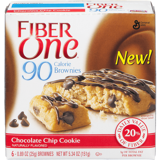 Fiber One 90 Calorie Brownies, Chocolate Chip Cookie