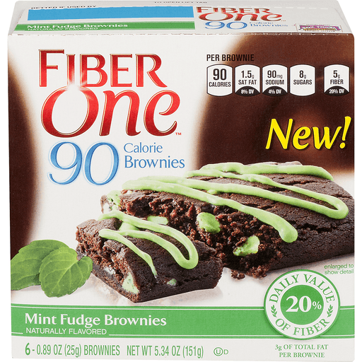 Fiber One 90 Calorie Brownies, Mint Fudge