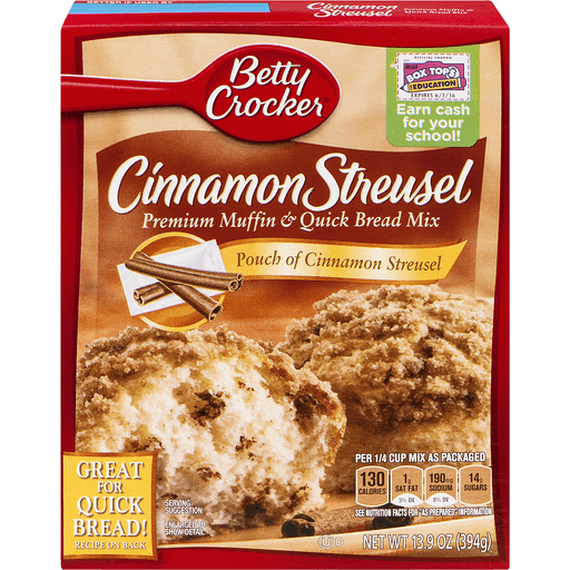 Betty Crocker Muffin & Quick Bread Mix, Cinnamon Streusel