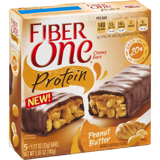 Fiber One Chewy Bars, Protein, Peanut Butter