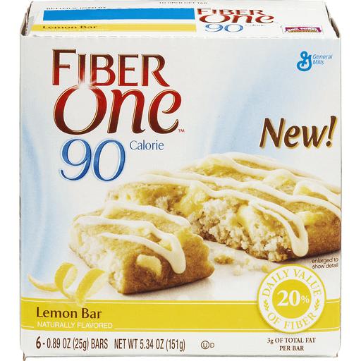 Fiber One 90 Calorie Baked Bars, Lemon Bar