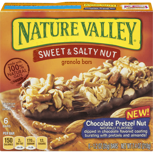 Nature Valley Granola Bars, Sweet & Salty Nut, Chocolate Pretzel Nut
