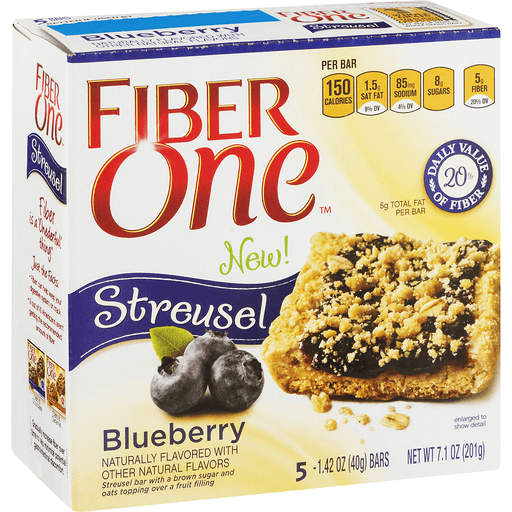 Fiber One Streusel Bar, Blueberry