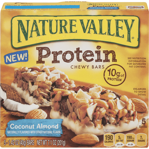Nature Valley Protein Chewy Bars, Coconut Almond