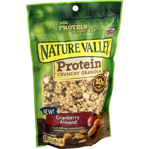Nature Valley Granola, Protein, Cranberry Almond, Crunchy Granola Bag, 11 oz
