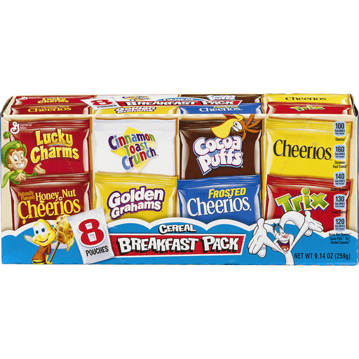 General Mills Cereal, Breakfast Pack