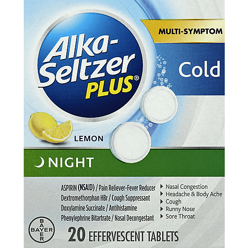 Alka Seltzer + Night Time Cold Rlf-Now Cd 62620