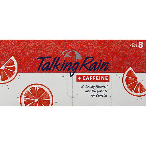 Talking Rain Blood Orange Sparkling Water With Caffeine