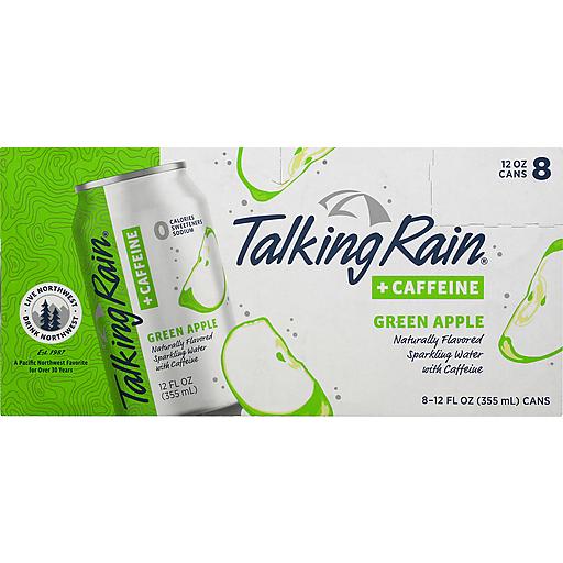 Talking Rain Green Apple Sparkling Water With Caffeine