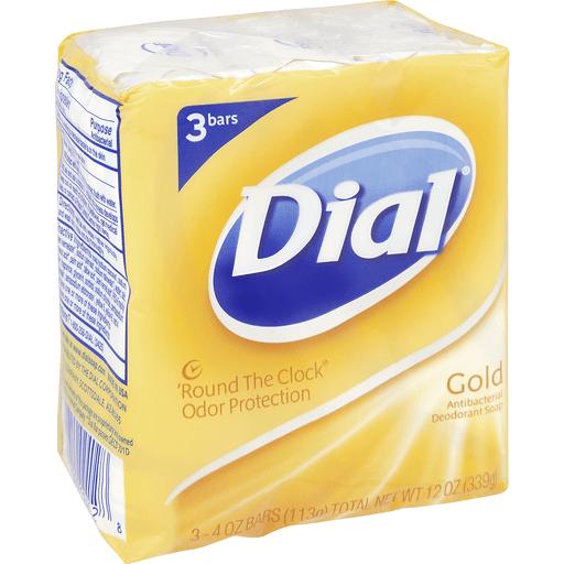 Dial Deodorant Soap, Antibacterial, Gold