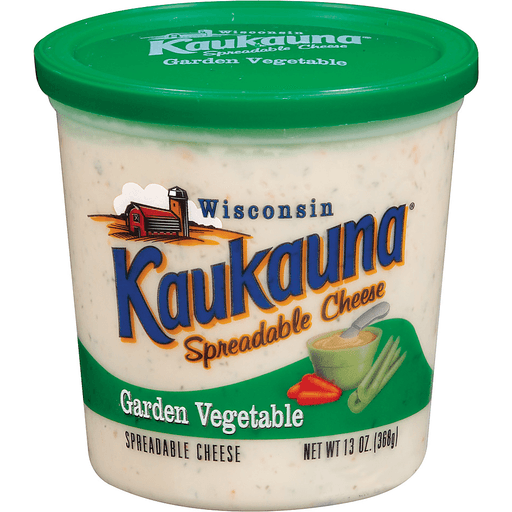 Kaukauna Garden Vegetable Spreadable Cheese 13 Oz Tub