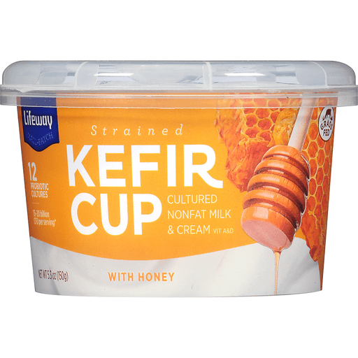 Lifeway Strained Kefir Cup with Honey 5.3 oz. Cup