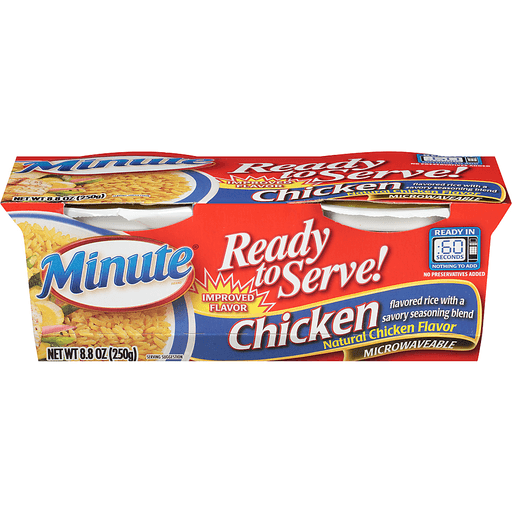 Minute Ready to Serve! Chicken Flavor Rice Mix - 2 CT