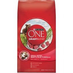 Purina One SmartBlend Small Bites Beef & Rice Formula Dog Food