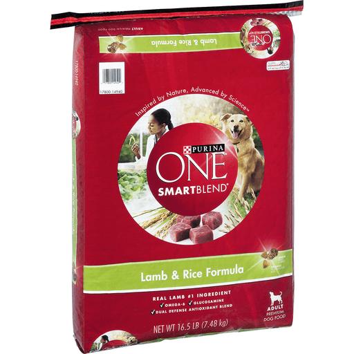 Purina One SmartBlend Dog Food, Premium, Adult, Lamb & Rice Formula