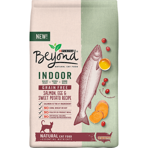 Purina Beyond Indoor Grain Free Salmon, Egg & Sweet Potato Recipe Adult Dry Cat Food 3 lb. Bag