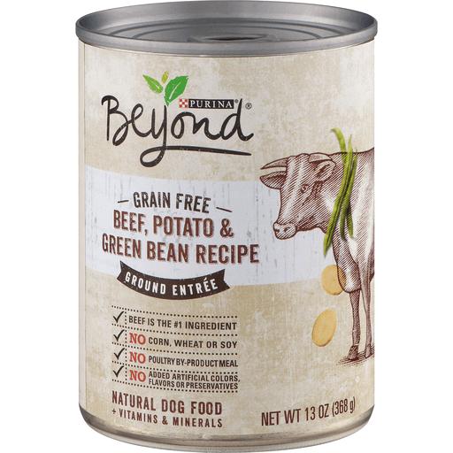 Beyond Dog Food, Natural, + Vitamins & Minerals, Beef, Potato & Green Bean Recipe