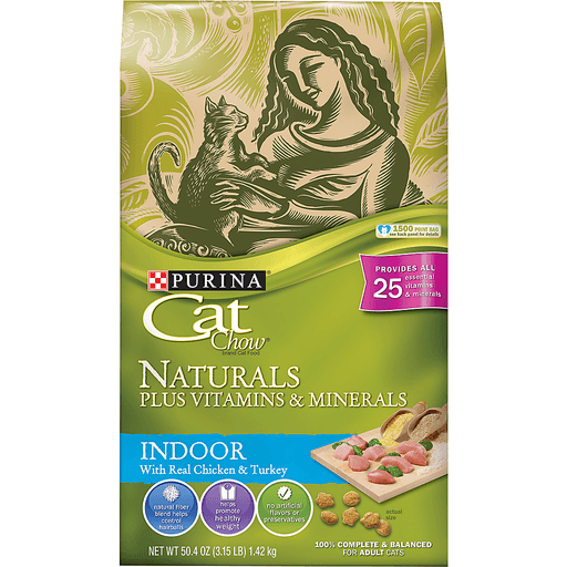 Cat Chow Naturals Cat Food, Indoor, with Real Chicken & Turkey