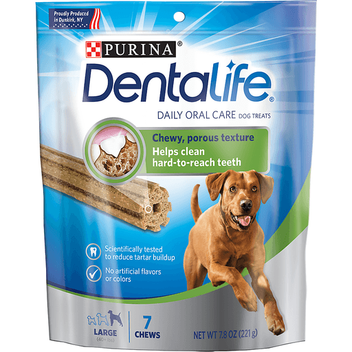 Purina Dentalife Daily Oral Care Dog Treats Large - 7 CT