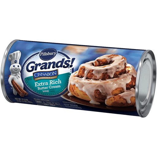 Pillsbury Grands!™ Cinnabon Refrigerated Cinnamon Rolls Extra Rich Butter Cream Icing 5 ct 17.5 oz Can