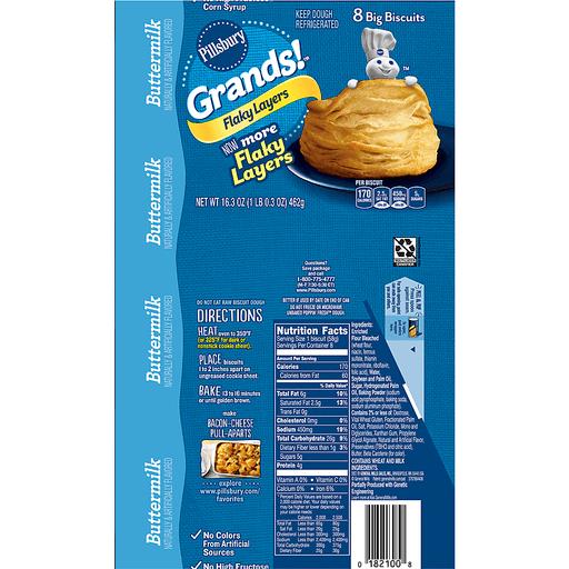 Pillsbury Grands! Biscuits, Big, Flaky Layers, Buttermilk