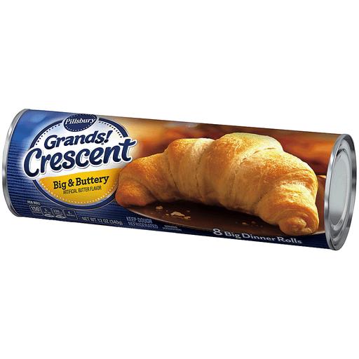 Pillsbury Grands! Dinner Rolls, Crescent, Big & Buttery