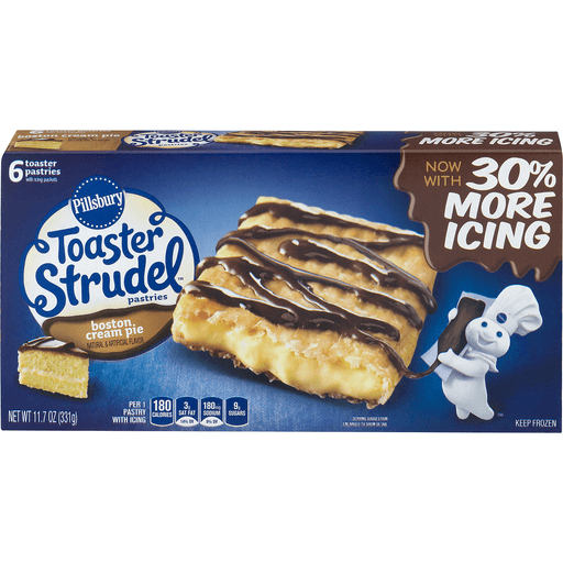 Pillsbury Toaster Strudel Pastries, Boston Cream Pie