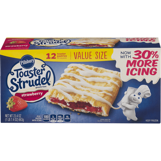 Pillsbury Toaster Strudel Pastries, Strawberry, Value Size