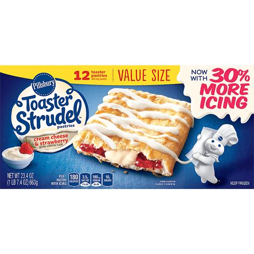 Pillsbury Toaster Strudel™ Cream Cheese & Strawberry Toaster Pastries 12 ct Box